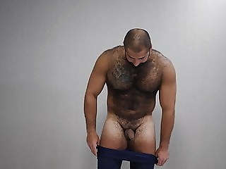 hot russian bear playing bear (gay) big cock (gay) hunk (gay)