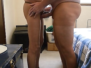 Pantyhose Cock Frot and Play Compilation big cock (gay) crossdresser (gay) small cock (gay)