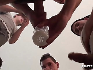 FraternityX - The Stuffing bareback (gay) blowjob (gay) gangbang (gay)