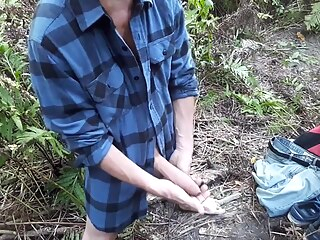 Afternoon second edging session near the small creek (half naked) #3 gay amateur gay big cock gay handjob