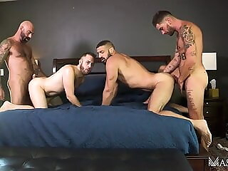 Drew Sebastian, Joel Someone, Chris Damned, Marco N. (TA P2) bareback big cock daddy