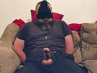 Daddy tied up with vibrator on cock 2:41 2021-01-10