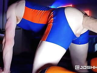 Fucked by Lampwick XXXL in rubber amateur sex toy gay sex