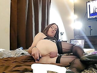 December Fun Pt 1 amateur crossdresser masturbation