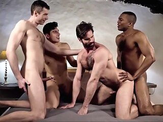 Raw double penetration 07 - bareback creampie and cumeating gay bareback gay black gay cumshot